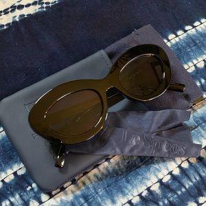 🌵Le Specs Fluxus Smoke Mono Lens Oval Sunglasses